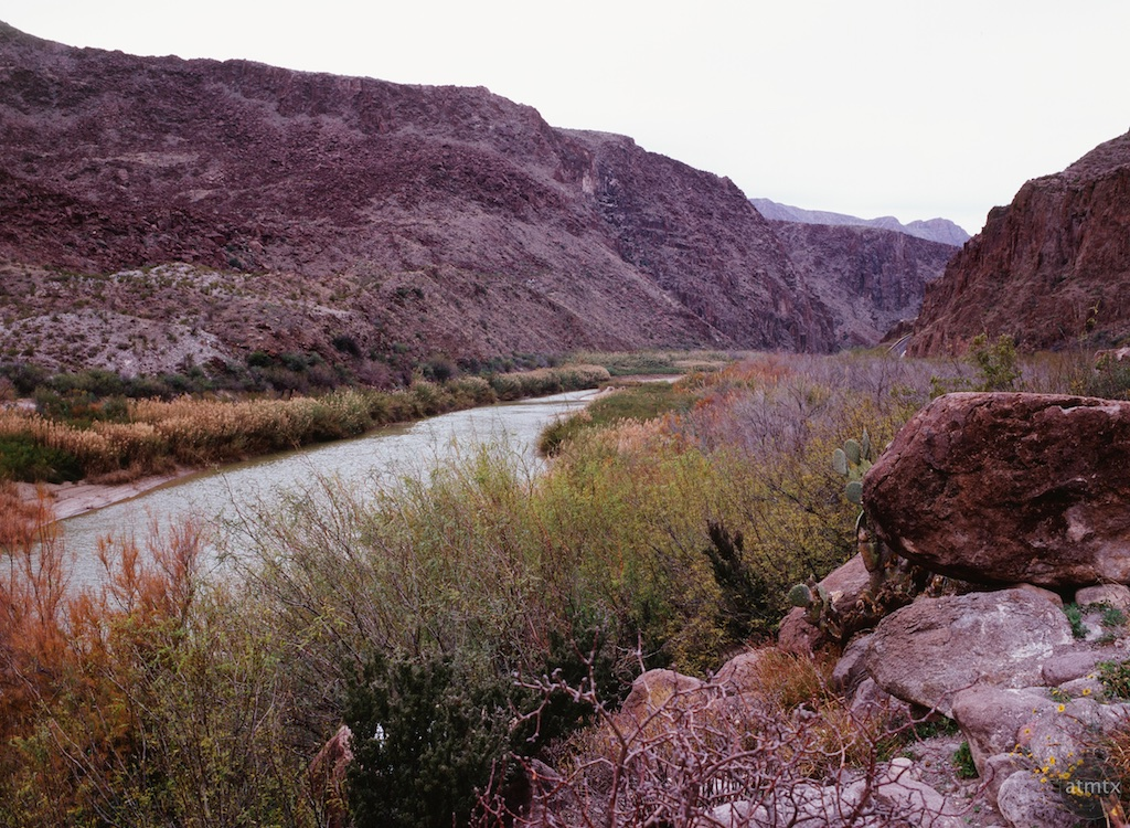 Rio Grande at the Rest Stop - Big Bend Ranch State Park, Texas