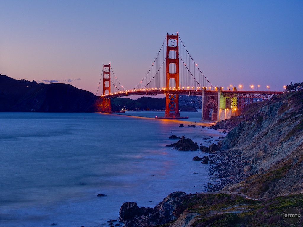 Golden Gate Bridge Up Close, Battery Crosby - San Francisco, California