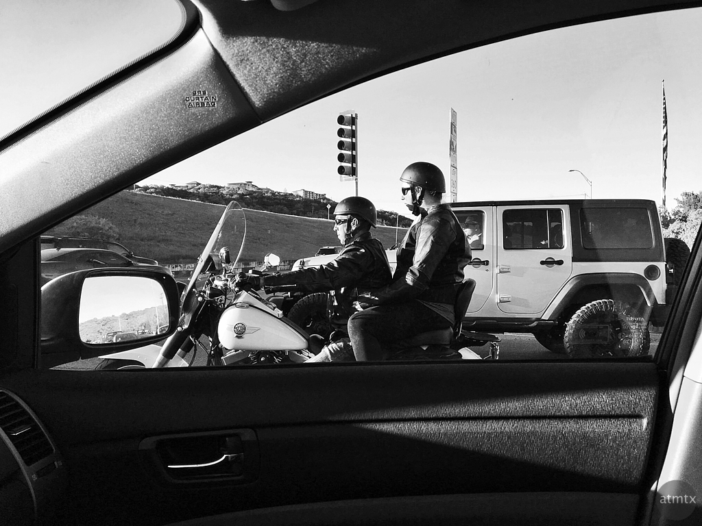 Biker Couple Framed - Austin, Texas
