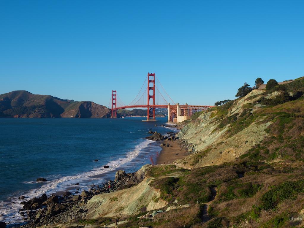 Golden Gate Bridge from Battery Crosby - San Francisco, California (hi-res)