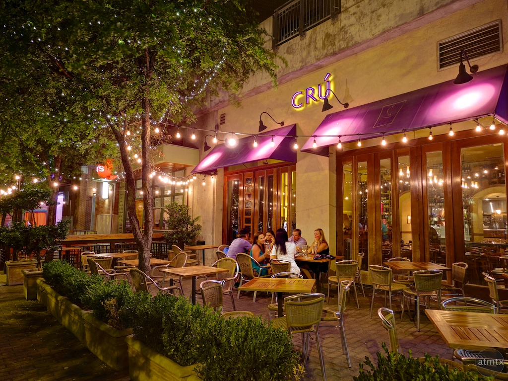 Patio at Cru, 2nd Street - Austin, Texas