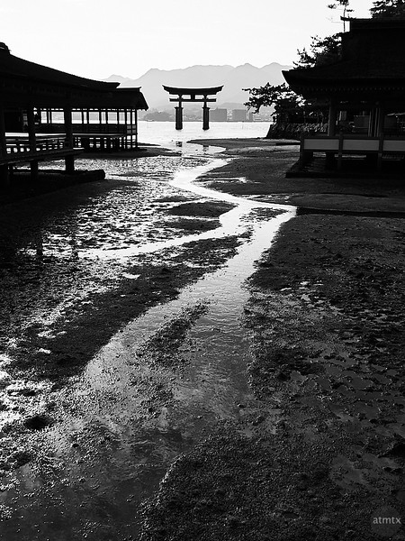 Itsukushima Torii Monochrome - Miyajima, Japan