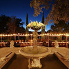 Wedding Table and Fountain - Austin, Texas
