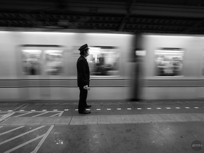 Conductor and Train - Tokyo, Japan