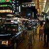 Taxis at Night, Shijo Dori - Kyoto, Japan