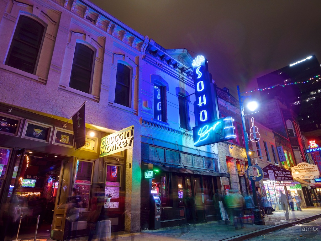 Soho Lounge and Chuggin' Monkey, 6th Street - Austin, Texas