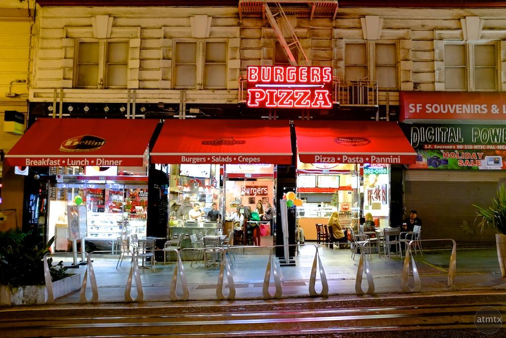 Burgers and Pizza - San Francisco, California