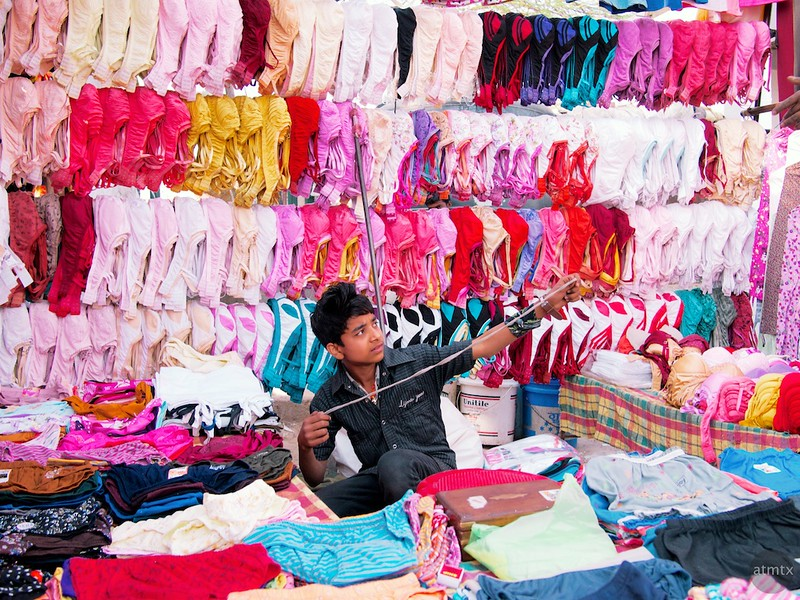 Surrounded by Undergarments - New Delhi, India
