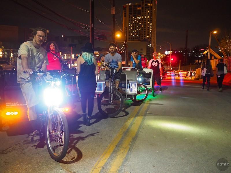 Pedicab Line, SXSW 2015 - Austin, Texas