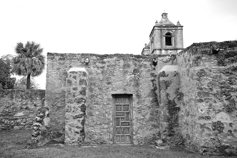 Mission Concepcion Side Detail - San Antonio, Texas