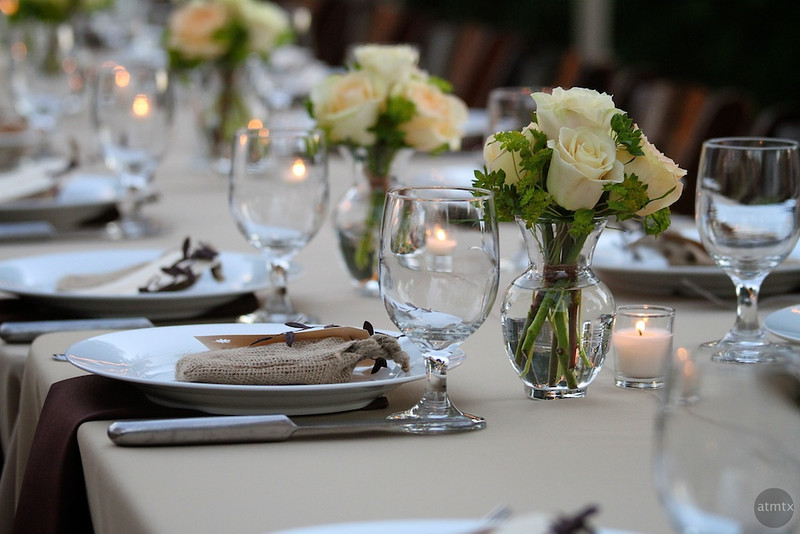 Wedding Table Detail - Austin, Texas