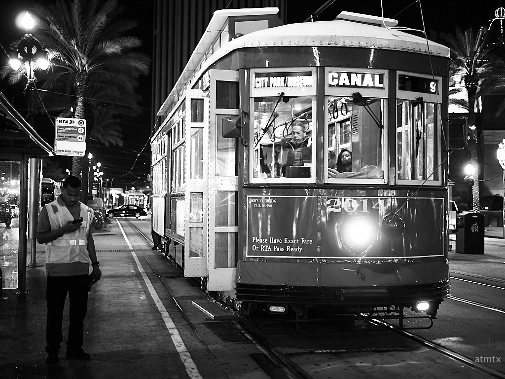 Canal Streetcar in Monochrome - New Orleans, Louisiana