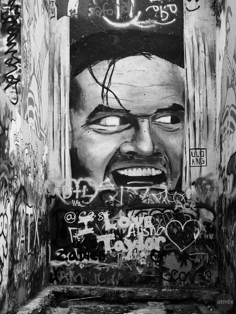 Here's Johnny, Graffiti Wall - Austin, Texas