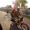 Family Commute by Motorcycle - Agra, India