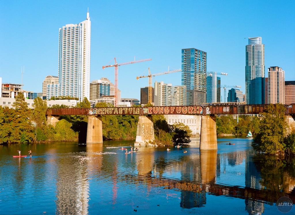 Water Sports and the Skyline - Austin, Texas