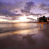 Waikiki Beach Sunset Reflections - Honolulu, Hawaii