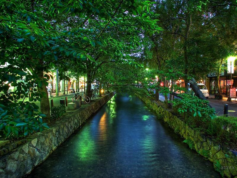 Evening Canal, Pontocho - Kyoto, Japan