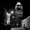 Frost Tower and Back Alley at Night - Austin, Texas