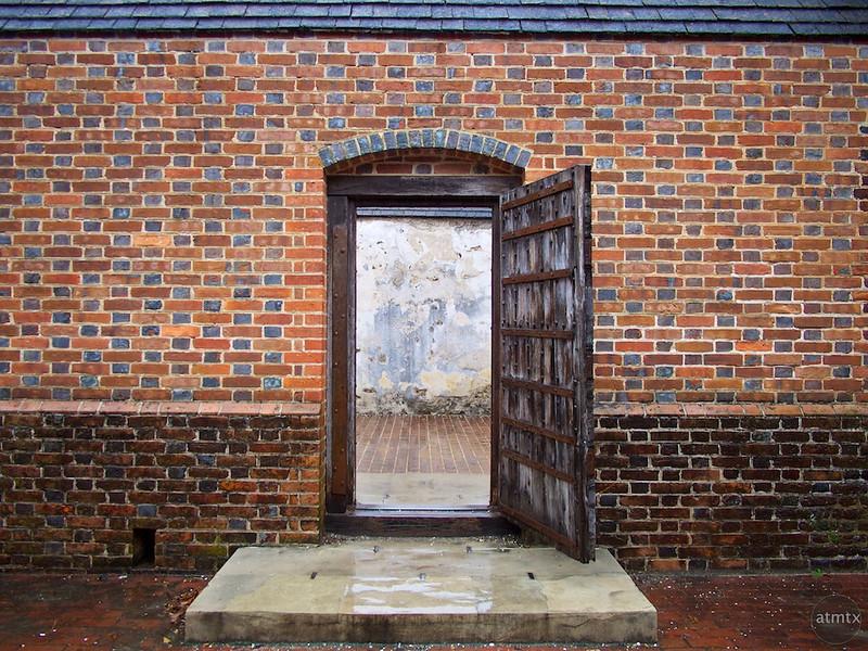 Brick Wall with Entry, Colonial Williamsburg - Williamsburg, Virginia