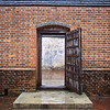 Brick Wall with Entry, Colonial Williamsburg - Williamsburg, Virginia