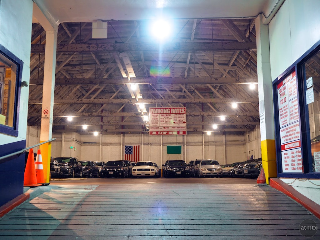 Garage with neatly arranged cars - San Francisco, California