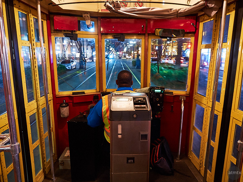 A View out the Streetcar - New Orleans, Louisiana