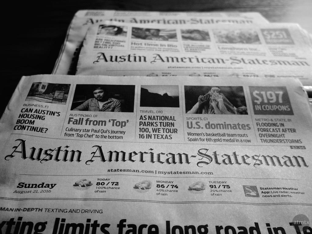 Sunday Editions - Austin American Statesman