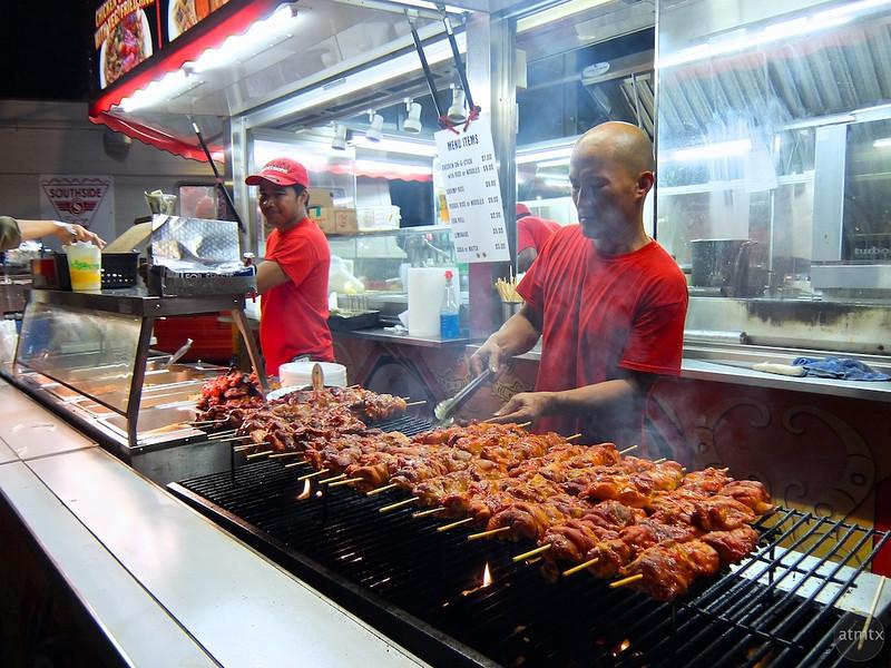 Chicken on a Stick,  Austin Fan Fest, Austin, Texas