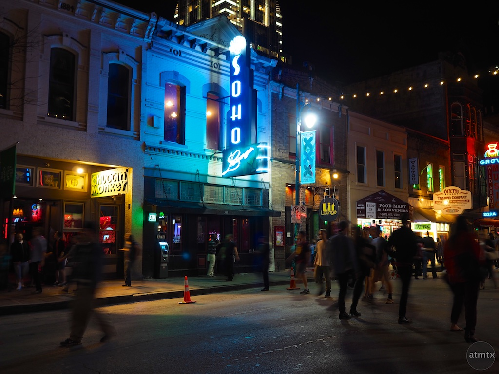 6th Street Motion Blur, SXSW 2015 - Austin, Texas