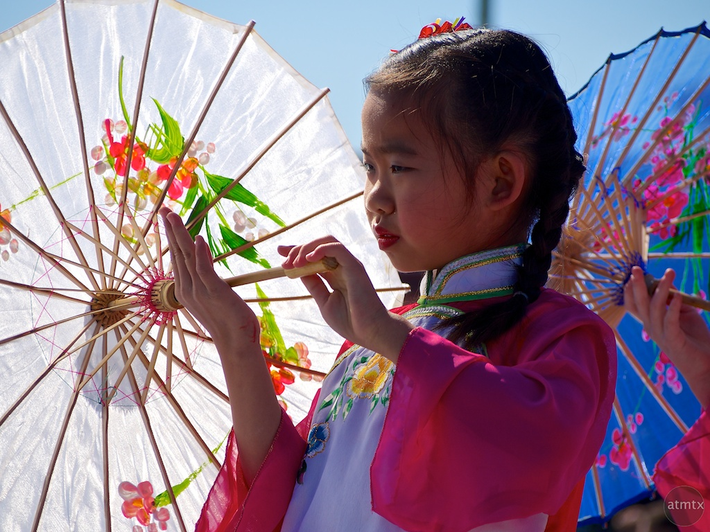 Girl with Parasol, 2013 Chinese New Year Celebration - Austin, Texas