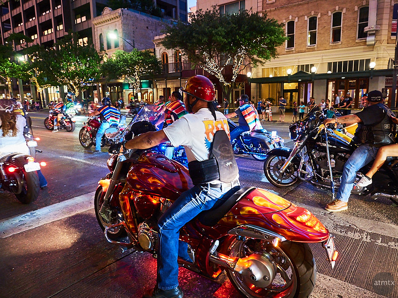 Austin; Texas; ROT Rally; Congress Avenue; Parade; Motorcycles; 2017