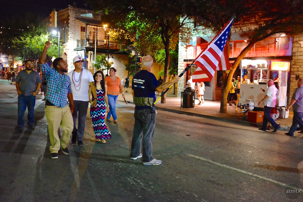 Challenging Patriotism, 6th Street - Austin, Texas