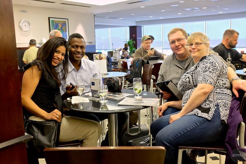 At the United Club - Houston, Texas