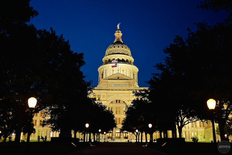 Texas State Capitol at Blue Hour #2 - Austin, Texas