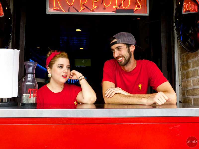 Red is for Romance, Roppolo's Pizza - Austin, Texas