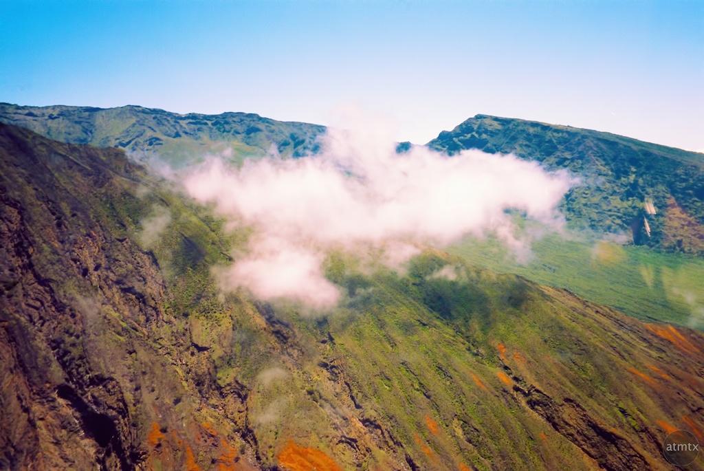 Puffy Cloud Stuck on a Mountain - Maui, Hawaii