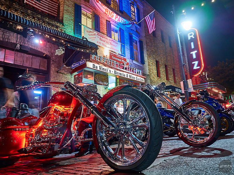 Choppers on 6th Street, ROT Rally - Austin, Texas