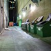 Shiny Trash Bins, Alleyway off 6th - Austin, Texas