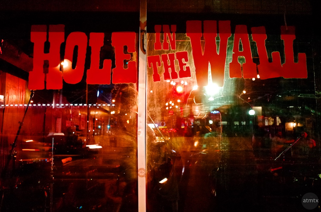 The Hole in the Wall Window - Austin, Texas