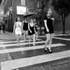 Monochrome Bachelorette Party, 6th Street - Austin, Texas