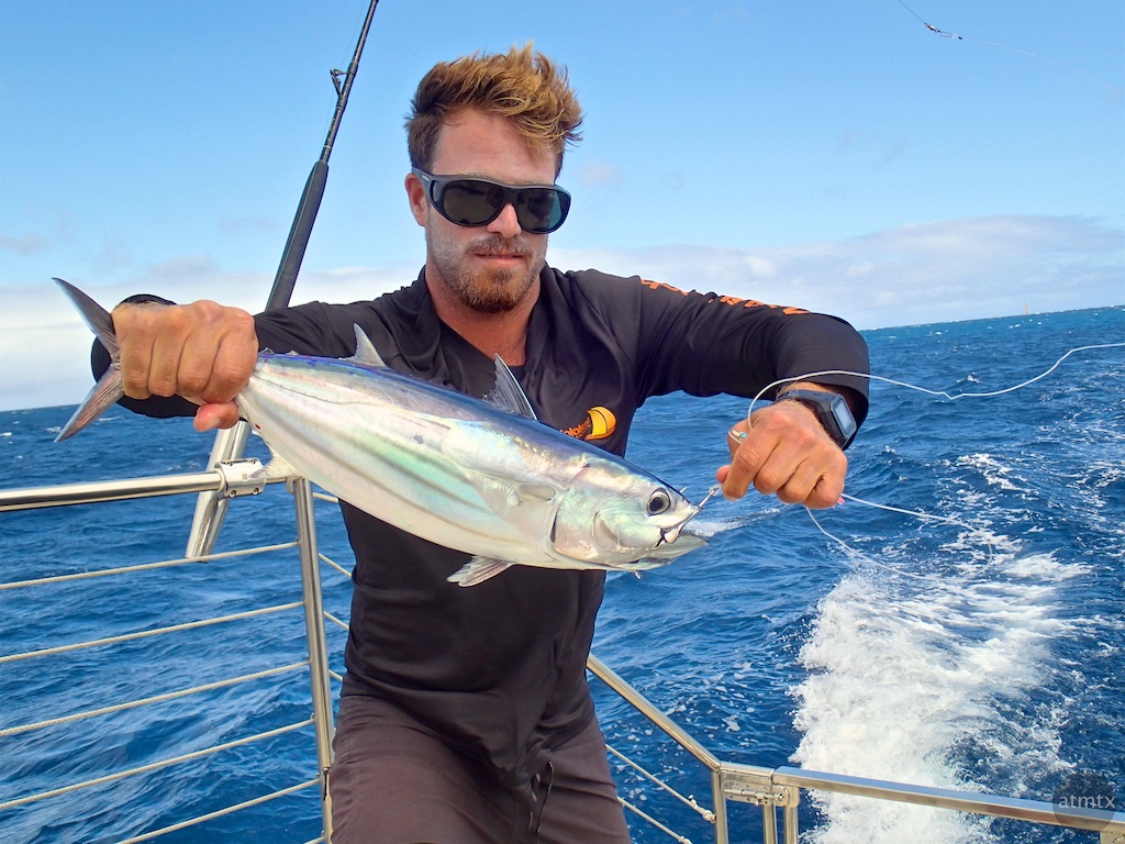 The captain caught a fish - Honolulu, Hawaii