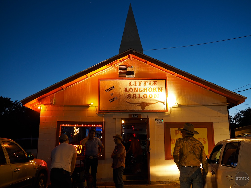 Little Longhorn Saloon at Blue Hour, Burnet Road - Austin, Texas