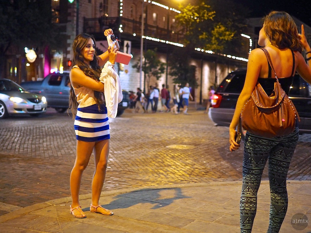 Posing for the Galaxy Camera, 6th Street - Austin, Texas
