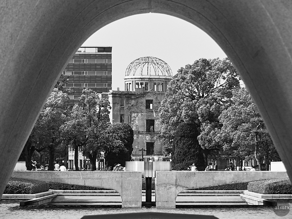 Memorial Cenotaph and Atomic Bomb Dome - Hiroshima, Japan