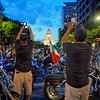 Blue hour at the Capitol, 2015 ROT Rally Parade #3 - Austin, Texas