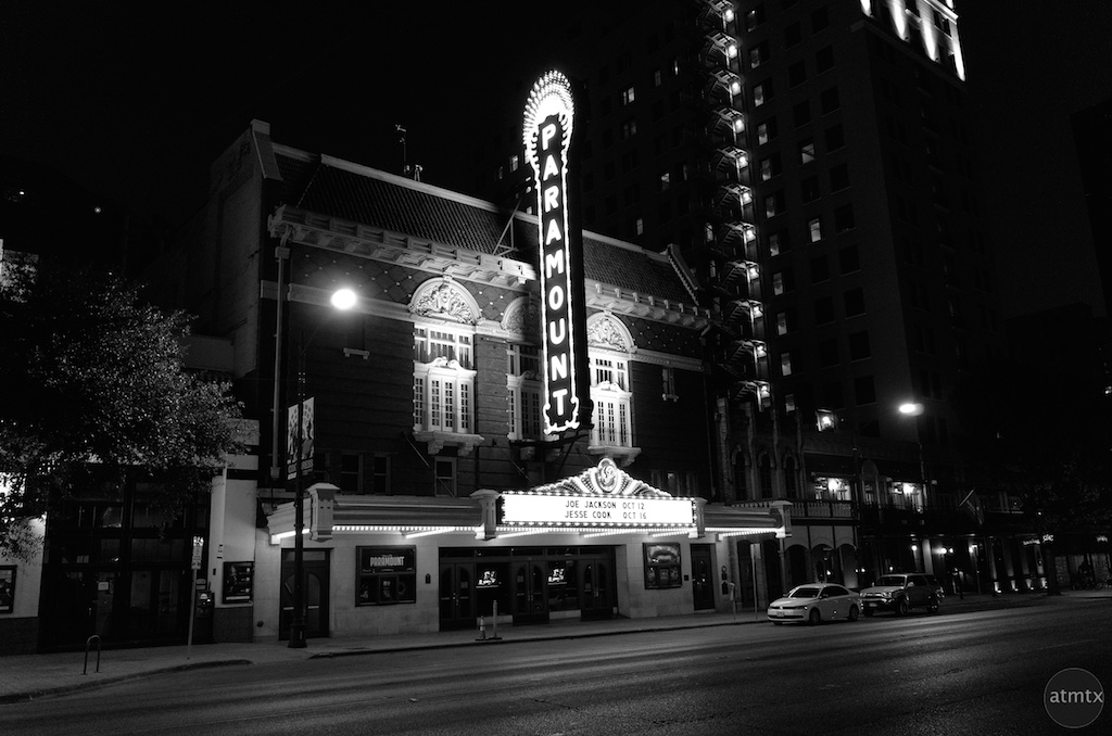 The New Sign at the Paramount Theater - Austin, Texas