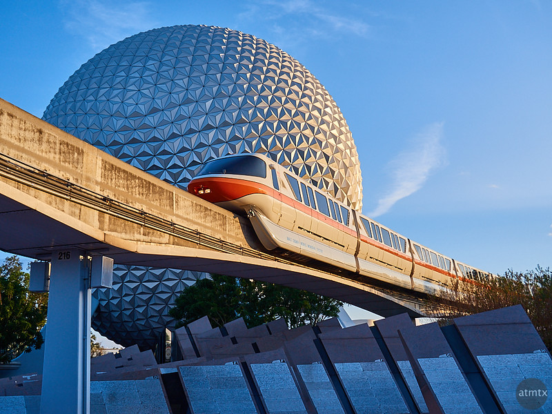 Monorail at Epcot, Disney World - Orlando, Florida