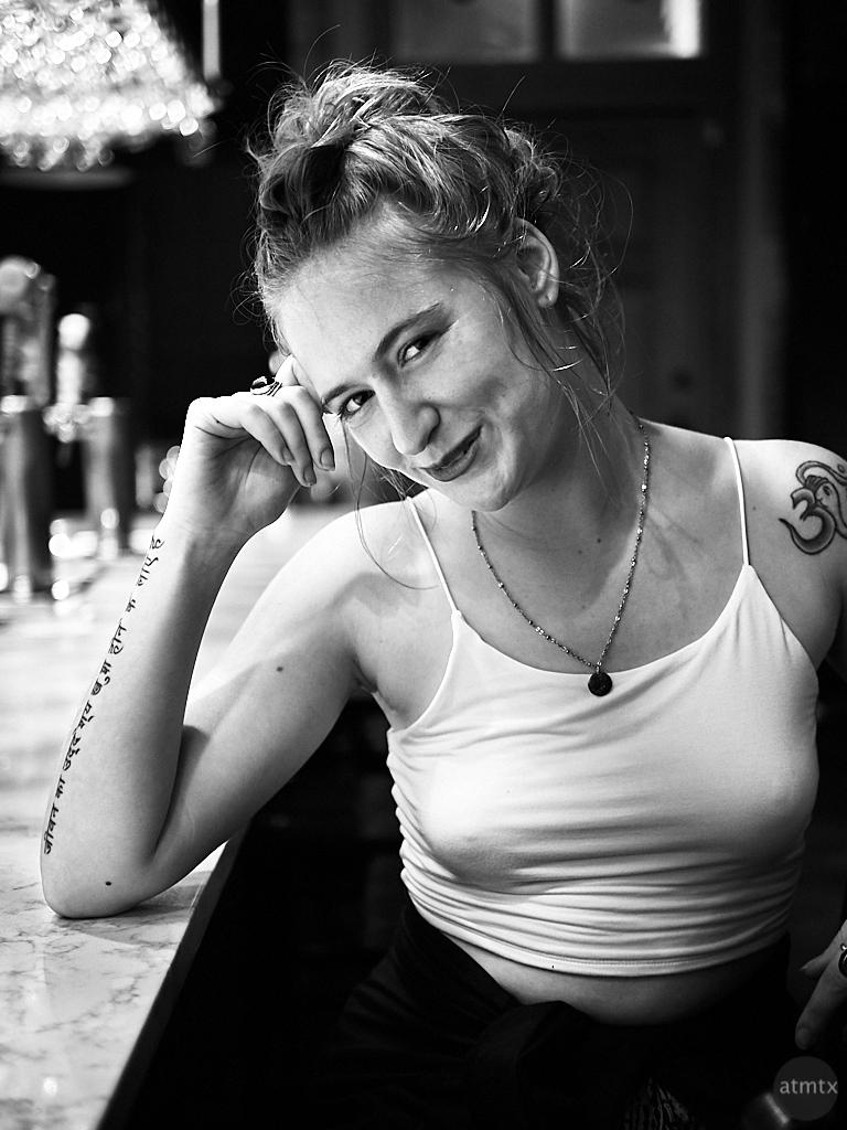 Sarah, Mort Subite Belgian Beer Bar - Austin, Texas