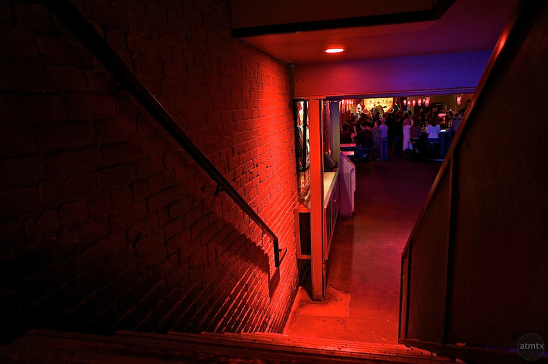 Lucky Lounge Stairs - Austin, Texas