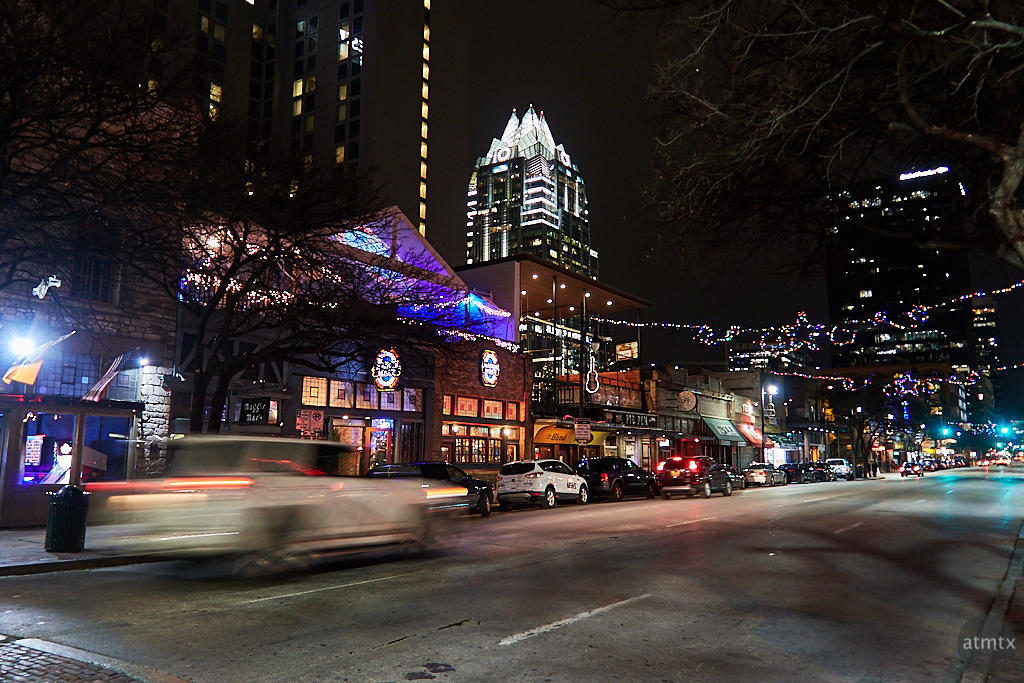 6th Street Scene at Night - Austin, Texas
